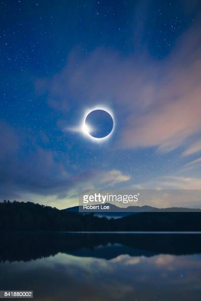 ring of fire - eclipse stock pictures, royalty-free photos & images