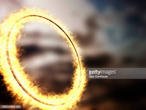 Ring on fire (digital composite)