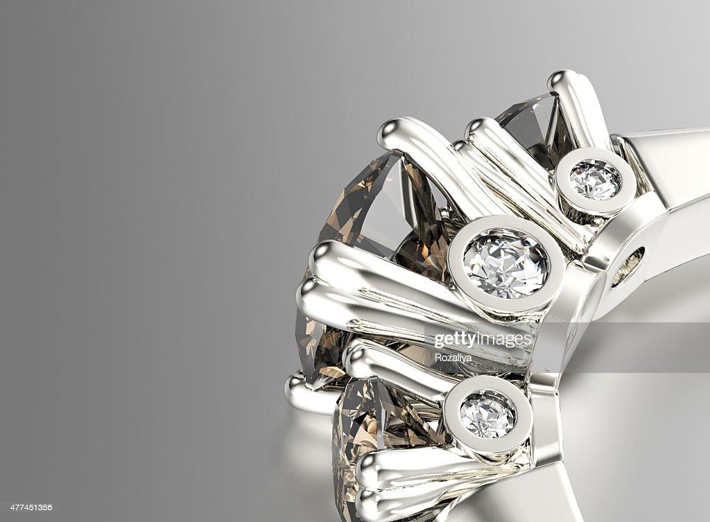 Ring mit Diamant.   Schmuck-Hintergrund : Stock-Foto