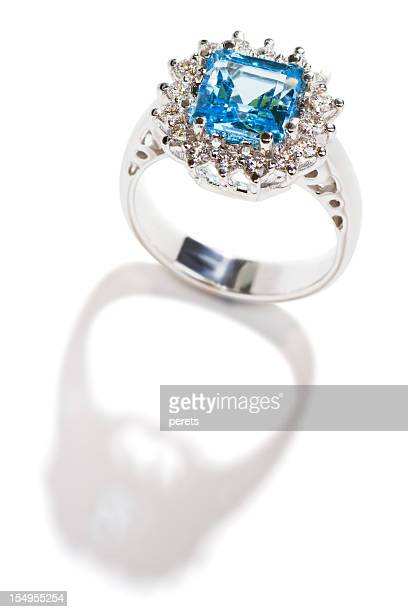 ring with topaz - topaz stock photos and pictures