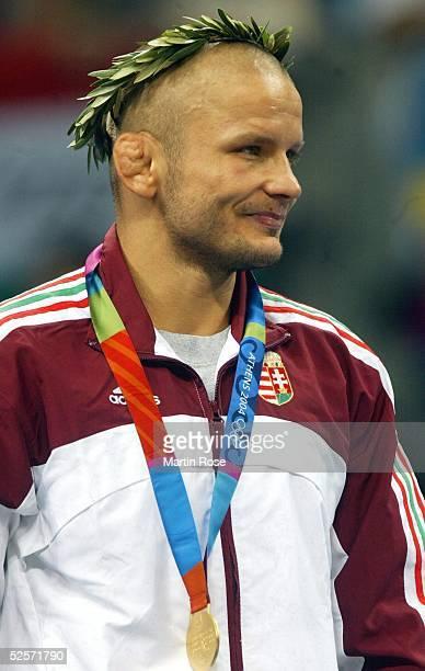 Ringen Olympische Spiele Athen 2004 Athen griechischroemisch / 55kg / Maenner Istvan MAJOROS / HUN / Gold 250804