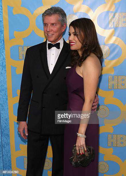 Ringer announcer Michael Buffer and Christine Buffer attend HBO's Official Golden Globe Awards After Party at The Beverly Hilton Hotel on January 11,...