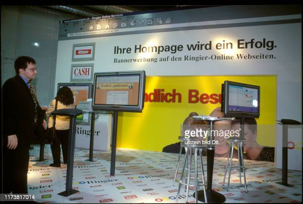 Ringier web advertising stand at the x'98 fair in Zurich 1998