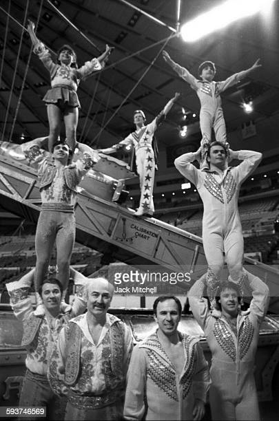 Ringling Bros. Circus performers in Madison Square Garden in May 1984.