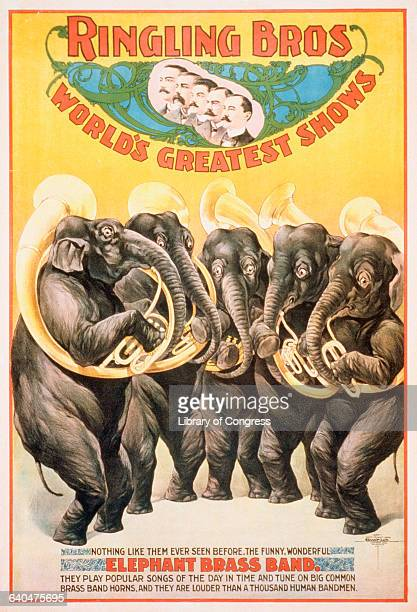Ringling Bros World's Greatest Shows Color Lithograph