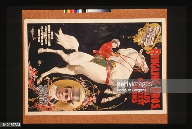 Ringling Bros World's Greatest Shows Madam Ada Castello Color Lithograph