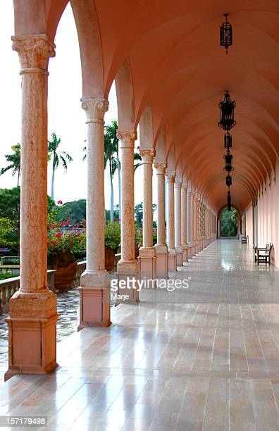 ringling museum corridor of columns - sarasota stock photos and pictures