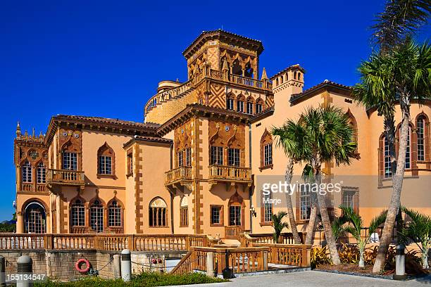 ringling museum mansion - sarasota, florida. - sarasota stock photos and pictures