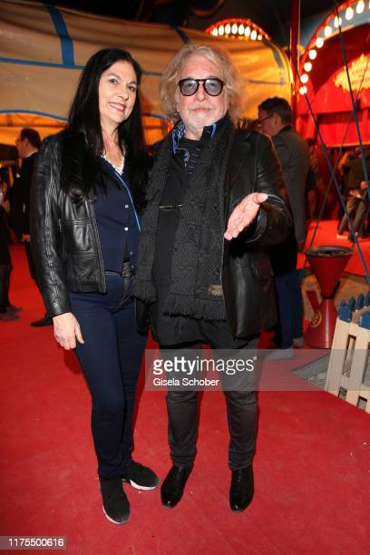 Ringmaster Bernhard Paul and his wife Eliana Larible during the premiere of Circus Roncalli's Storyteller Gestern Heute Morgen on October 12 2019 in...