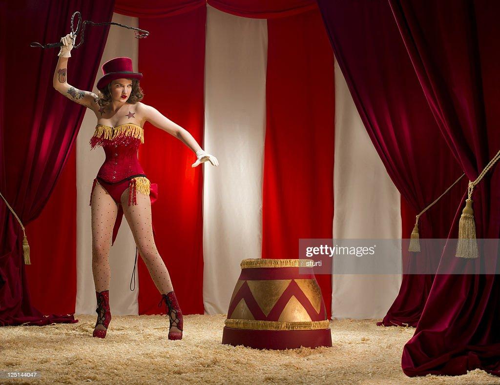 ringmaster burlesque : Stock Photo