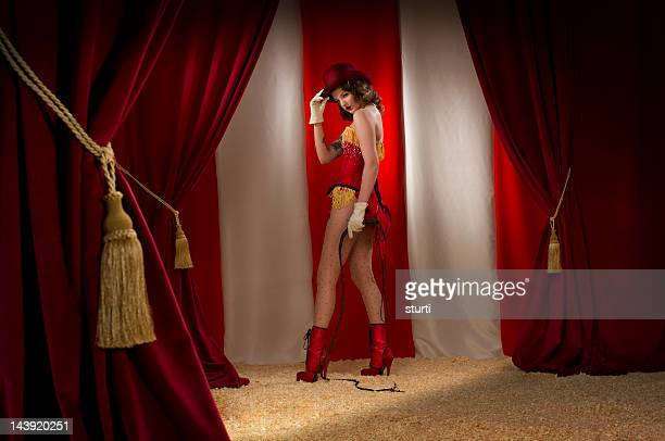 ringmaster burlesque - women with whips stock pictures, royalty-free photos & images