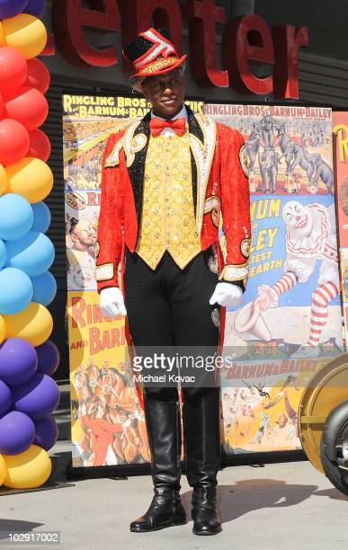 Ringmaster Johnathan Lee Iverson attends the star dedication ceremony for iconic circus founder P.T. Barnum at Staples Center on July 15, 2010 in Los...
