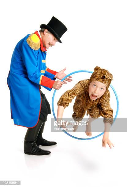 Ringmaster with Leopard Boy