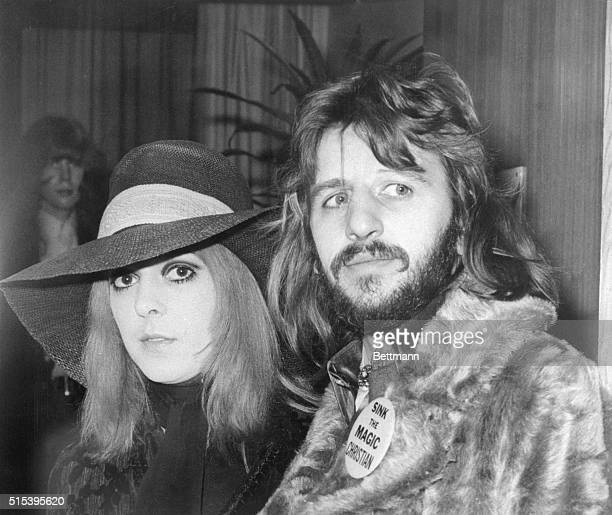 Ringo and wife head for StatesBeatle drummer Ringo Starr and his wife Maureen pause at London's Heathrow Airport January 26th before boarding a plane...