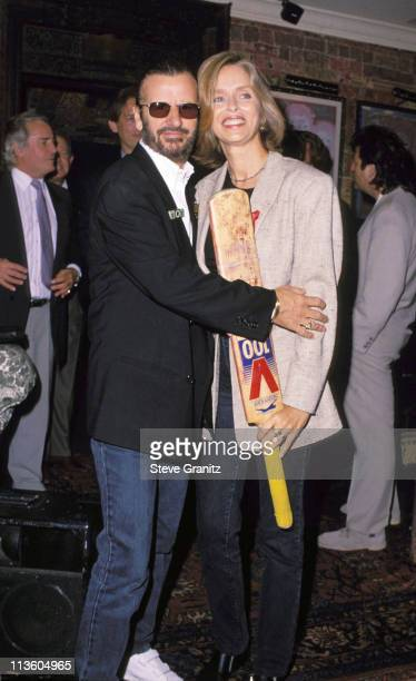 Ringo Star & Barbara Bach during Press Conference for Pro-Celebrity Cricket Match at House Of Blues in West Hollywood, California, United States.