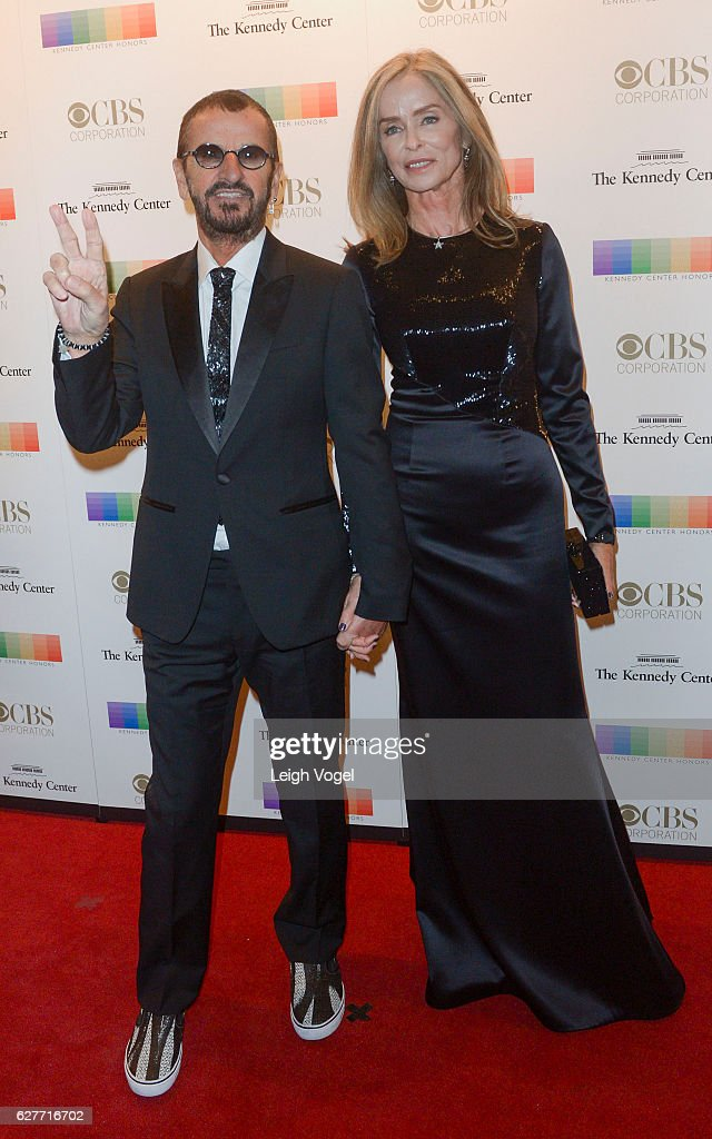 Ringo Starr and Barbara Bach arrive at the 39th Annual Kennedy Center Honors at The Kennedy Center on December 4, 2016 in Washington, DC.