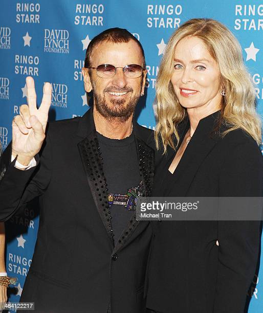 "Ringo Starr and Barbara Bach arrive at The David Lynch Foundation honors him with The ""Lifetime Of Peace & Love Award"" held at El Rey Theatre on..."