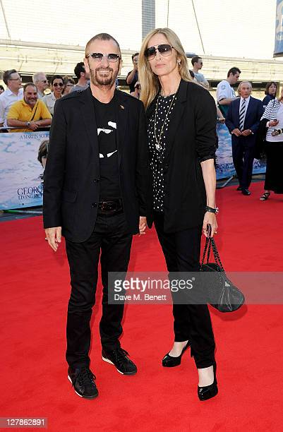 Ringo Starr and Barbara Bach arrive at the UK Premiere of 'George Harrison: Living In The Material World' at BFI Southbank on October 2, 2011 in...