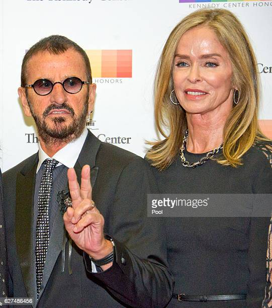 Ringo Starr and Barbara Bach arrive for the formal Artist's Dinner honoring the recipients of the 39th Annual Kennedy Center Honors hosted by United...