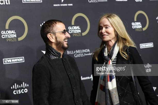 Ringo Starr and Barbara Bach attend the 2019 Global Citizen Prize at the Royal Albert Hall on December 13 2019 in London England