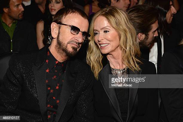 Ringo Starr and Barbara Bach attend the 56th GRAMMY Awards at Staples Center on January 26 2014 in Los Angeles California