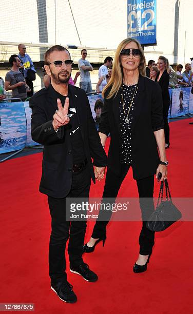 """Ringo Starr and Barbara Bach attend the """"George Harrison: Living In The Material World"""" UK premiere at BFI Southbank on October 2, 2011 in London,..."""