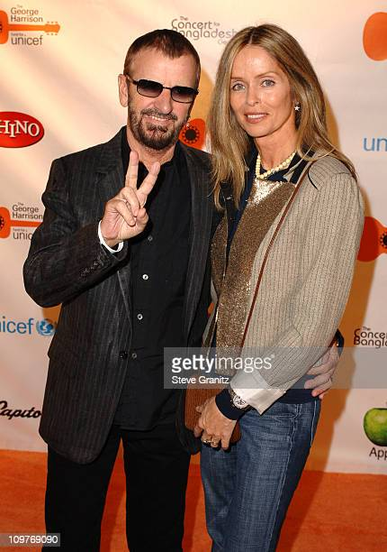 Ringo Starr and Barbara Bach during The Concert for Bangladesh Revisted with George Harrison and Friends Documentary Gala - Arrivals in Burbank,...