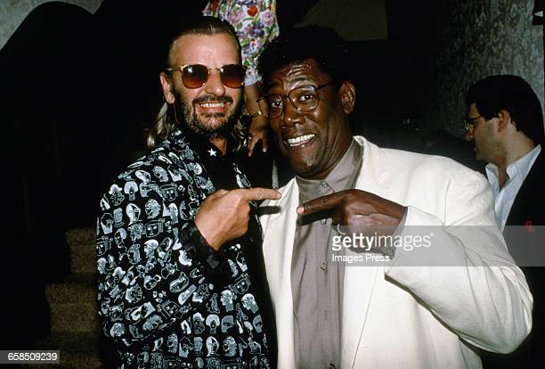 Ringo Starr and Clarence Clemons circa 1989 in New York City
