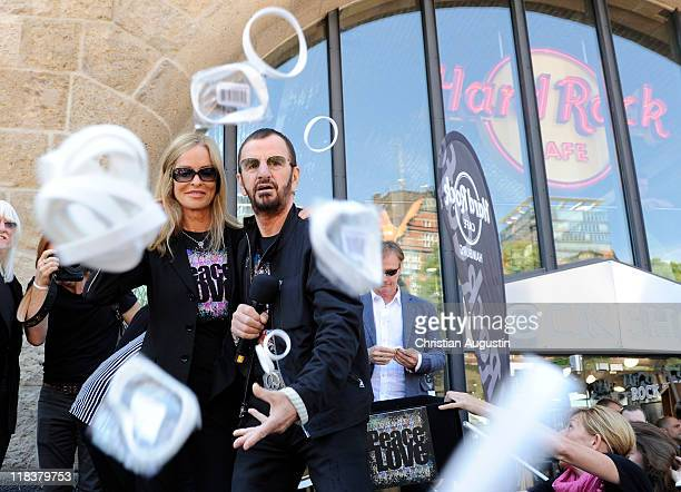 Ringo Starr and his wife Barbara are celebrating his 71th birthday of Ringo Starr at the Hard Rock Cafe on July 7 2011 in Hamburg Germany