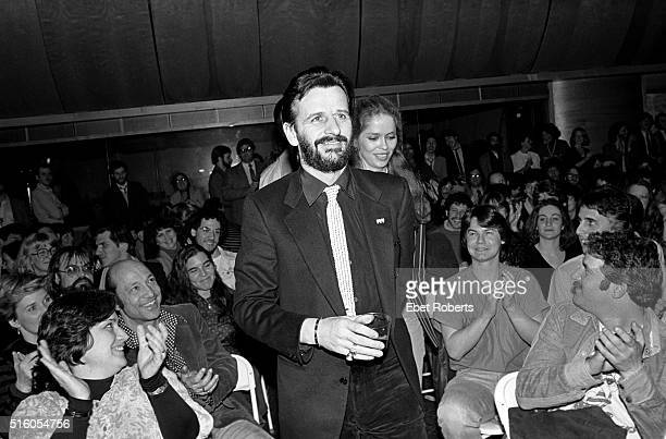 Ringo Starr and his wife Barbara Bach appearing on the Robert Klein Radio Hour at RCA Studios in New York City on March 26 1981