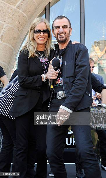 Ringo Starr and his wife Barbara Bach are celebrating his 71th birthday at the Hard Rock Cafe on July 7, 2011 in Hamburg, Germany.