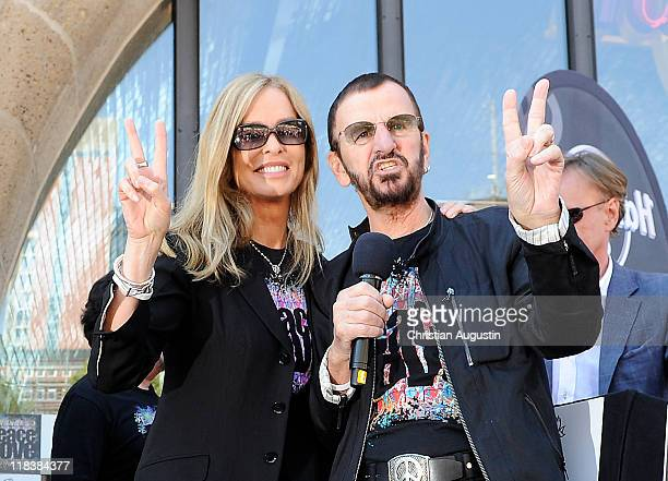 Ringo Starr and his wife Barbara Bach are celebrating his 71th birthday at the Hard Rock Cafe on July 7 2011 in Hamburg Germany