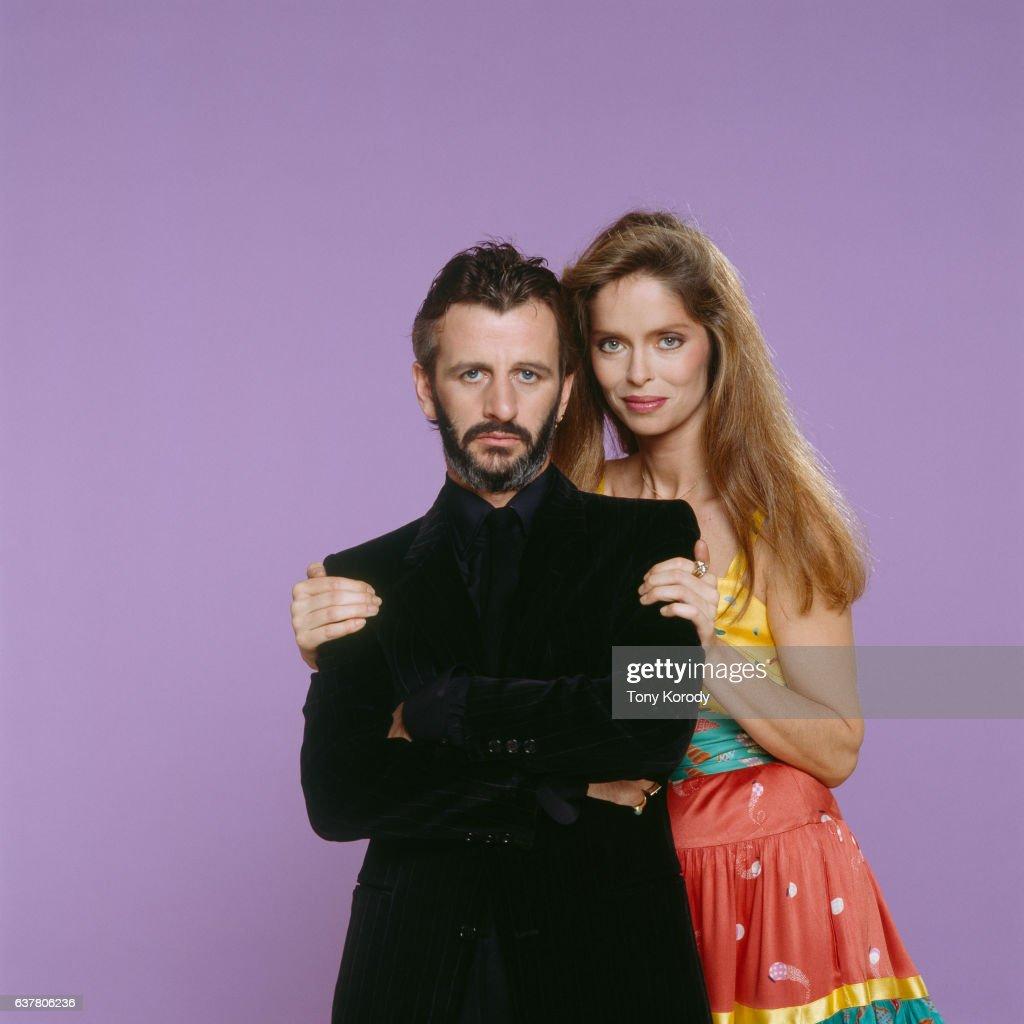 Ringo Starr and His Wife Barbara Bach, circa 1981.