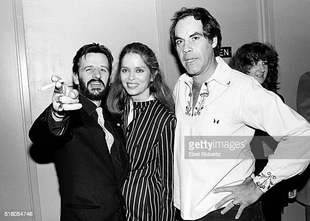 Ringo Starr and his wife Barbara Bach with Robert Klein appearing on the Robert Klein Radio Hour at RCA Studios in New York City on March 26 1981
