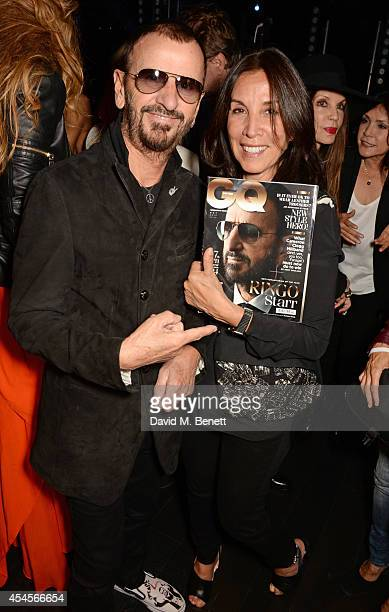 Ringo Starr and Olivia Harrison attend as John Varvatos launch their first European store in London on September 3 2014 in London England