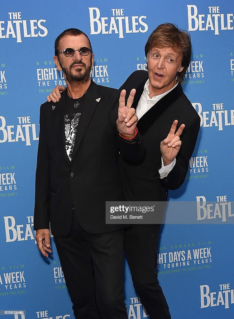 Ringo Starr And Paul McCartney Attend The World Premiere Of Beatles Eight Days