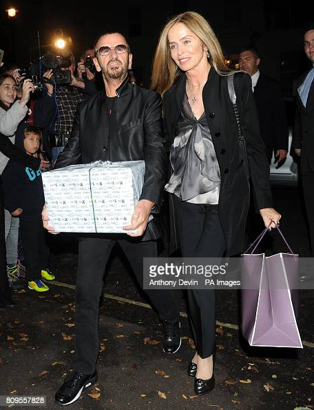 Ringo Starr and wife Barbara Bach arrive at the north ...
