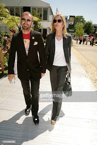 Ringo Starr and wife Barbara Bach attends the Press & VIP preview at The Chelsea Flower Show at Royal Hospital Chelsea on May 24, 2010 in London,...