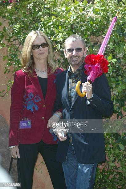 Ringo Starr and wife, Barbara Bach during Chelsea Flower Show 2005 at Royal Hospital Chelsea in London, Great Britain.