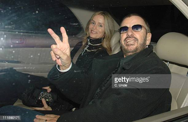 Ringo Starr and wife Barbara Bach during Sir Elton John and David Furnish's Civil Partnership Ceremony Reception Arrivals at Windsor in Windsor Great...