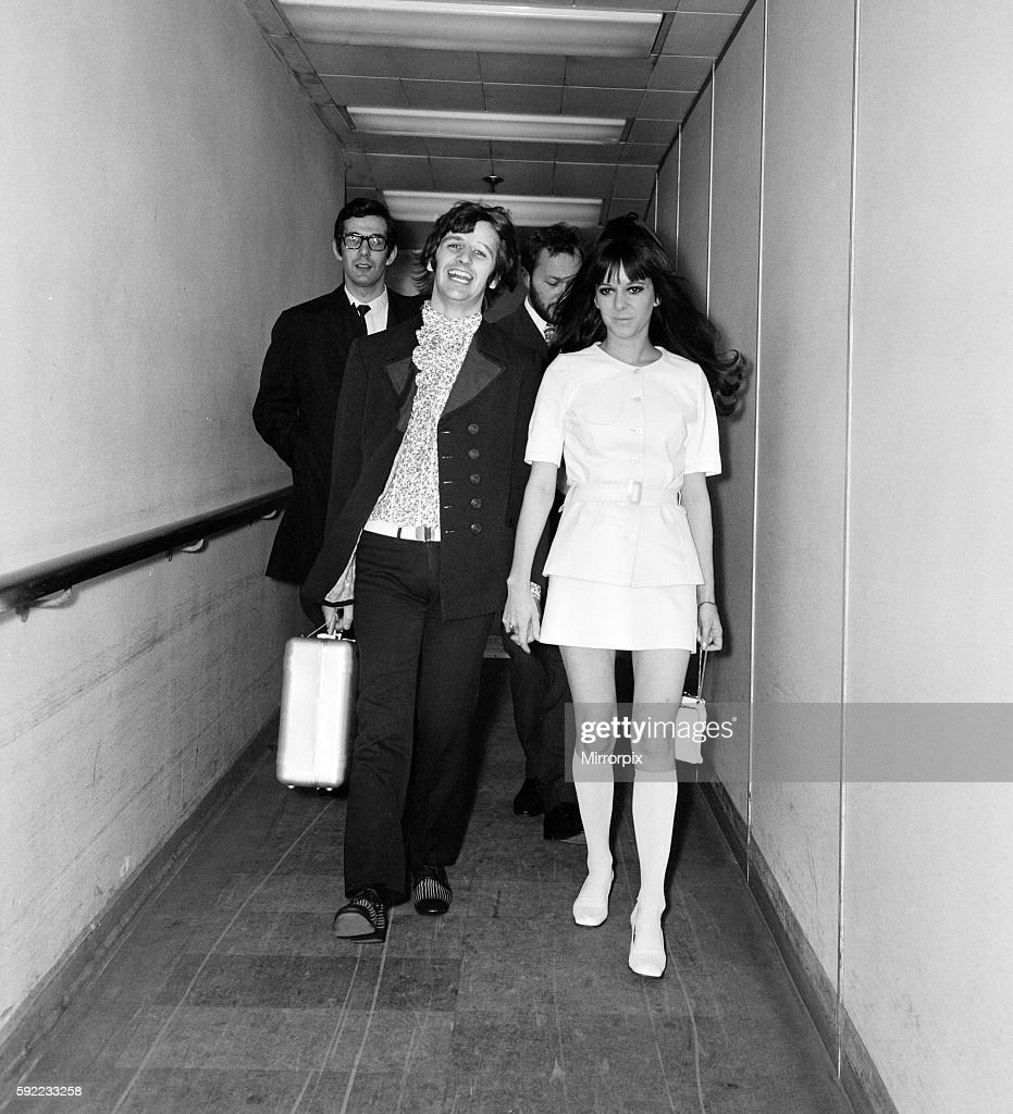 Ringo Starr and wife Maureen Starkey, on their way to Nice ...