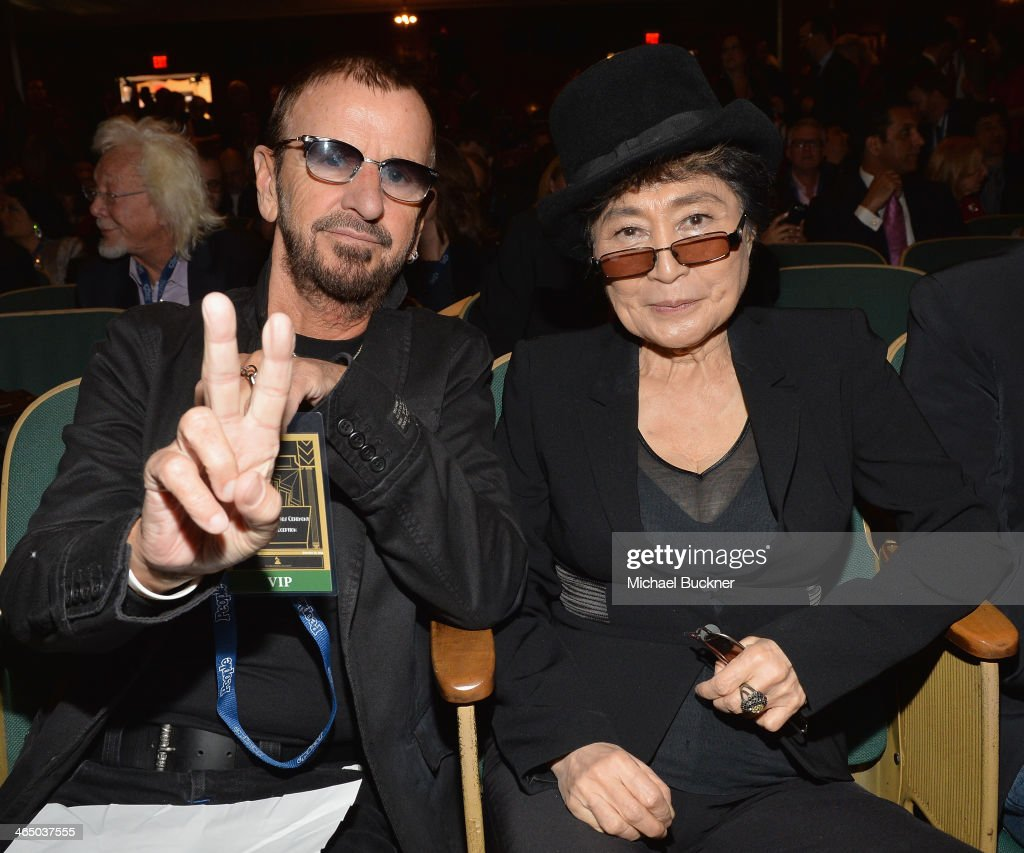 Ringo Starr and Yoko Ono attend the Special Merit Awards Ceremony as part of the 56th GRAMMY Awards on January 25, 2014 in Los Angeles, California.