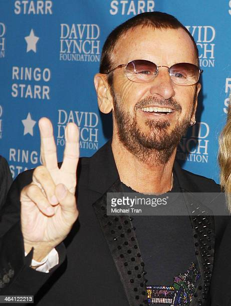 Ringo Starr arrives at The David Lynch Foundation honors him with The 'Lifetime Of Peace Love Award' held at El Rey Theatre on January 20 2014 in Los...