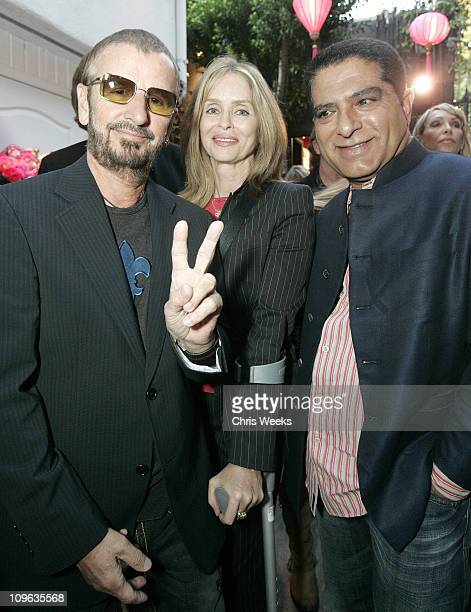 Ringo Starr, Barbara Bach and Deepak Chopra during Dave Stewart Hosts the Unveiling of Coco de Mer Boutique - Inside at Coco de Mer in West...