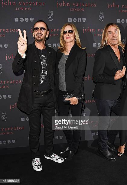 Ringo Starr Barbara Bach and Iggy Pop attend as John Varvatos launch their first European store in London on September 3 2014 in London England