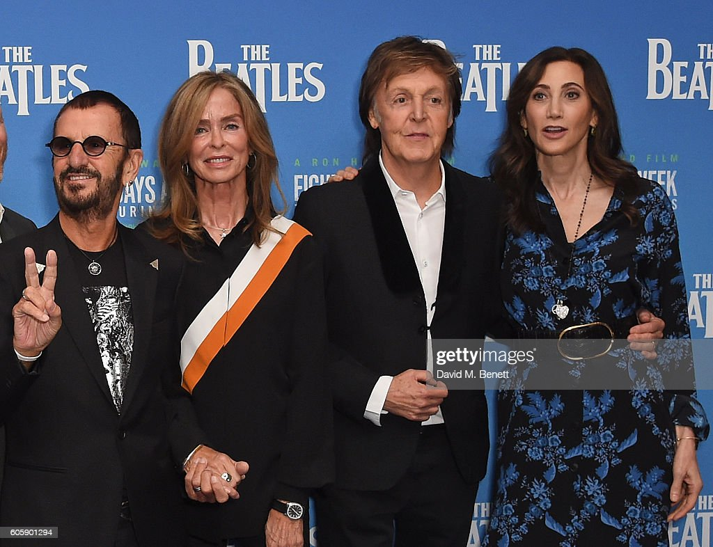 Ringo Starr Barbara Bach Paul McCartney And Nancy Shevell Attend The World Premiere Of