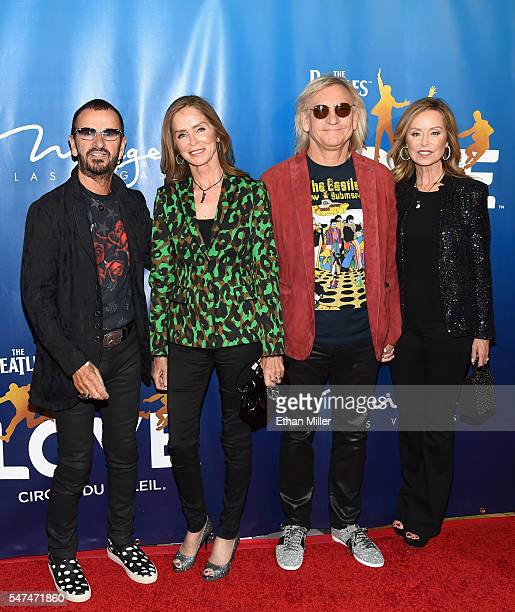 """Ringo Starr, Barbara Bach, singer-songwriter Joe Walsh and Marjorie Bach attend the 10th anniversary celebration of """"The Beatles LOVE by Cirque du..."""