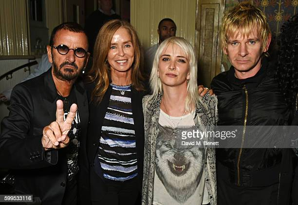 Ringo Starr Barbara Bach Sshh Liguz and Zak Starkey attend the launch of Issues a new album by SSHH in aid of Teenage Cancer Trust at The Box on...