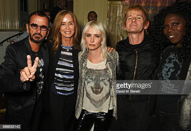 Ringo Starr Barbara Bach Sshh Liguz Zak Starkey and Jeni Cook attend the launch of Issues a new album by SSHH in aid of Teenage Cancer Trust at The...