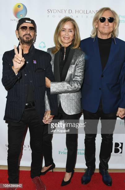 Ringo Starr Barbara Bach Starkey and Joe Walsh attend Peggy Albrecht Friendly House's 29th Annual Awards Luncheon at The Beverly Hilton Hotel on...
